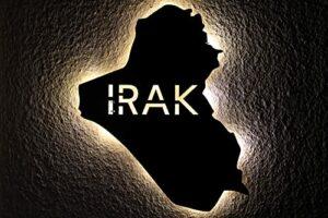 Irak personnalisable avec texte personnalisable Veilleuse LED Iraq