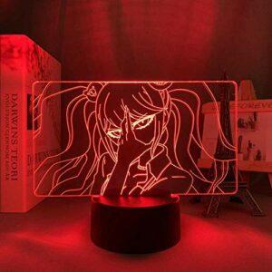 Lampe de nuit 3D Anime Illusion lampe Danganronpa LED veilleuse Junko Enoshima lampe pour la décoration intérieure enfants cadeau Danganronpa acrylique 3D lampe Junko Enoshima