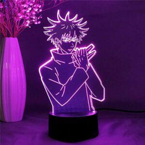 Lampe D'Illusion 3D Led Veilleuse Jiu-Jitsu World Genfino Megumi'S Lampe De Table Cadeau D'Anniversaire Pour Enfants Décorations De Bureau De Chambre À Coucher