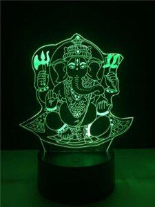 Lampe D'Illusion 3D Led Veilleuse Lampe De Table D'Ambiance En Acrylique 7 Couleurs Elephant, Adaptée À La Décoration De Bureau Ou De Table