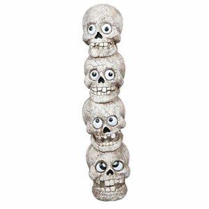 LIBWX Halloween crâne LED veilleuse Squelette Mur Phare Batterie Puissance Vacances Lampe Cadeau Maison Bar Halloween rétro éclairage décor