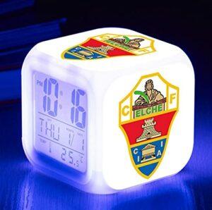 Mitrilifi Club Watch Flash Horloge Numérique 7 Couleur LED Réveil Jouet Réveil Enfant Cadeau LED Chambre Bureau Lampe Livraison Carré Réveil ArmyGreen