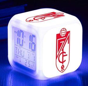 Mitrilifi Club Watch Flash Horloge Numérique 7 Couleur LED Réveil Jouet Réveil Enfant Cadeau LED Chambre Bureau Lampe Livraison Carré Réveil Bleu