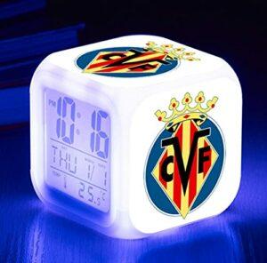 Mitrilifi Club Watch Flash Horloge Numérique 7 Couleur LED Réveil Jouet Réveil Enfant Cadeau LED Chambre Lampe De Bureau Livraison Carré Réveil Argent