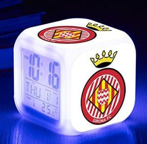 Mitrilifi Club Watch Flash Horloge Numérique 7 Couleur LED Réveil Jouet Réveil Enfant Cadeau LED Chambre Lampe De Bureau Livraison Carré Réveil DarkGray