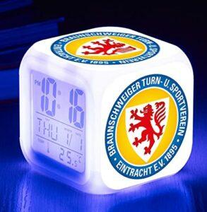 Mitrilifi Football Standard réveil Table Reveil Table Dessin animé Horloge numérique réveil lumière Enfant Jouet réveil carré réveil Flash Deepblue