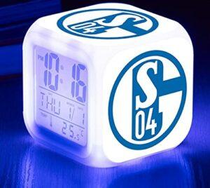 Mitrilifi Football Standard réveil Table Reveil Table Dessin animé Horloge numérique réveil lumière Enfant Jouet réveil carré réveil Flash Rouge