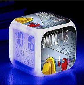 Mitrilifi Petite Horloge LED réveil Clignotant coloré réveil Maison Lampe de Table Lumineuse pour Enfants Enfants Cadeaux décoration de la Maison Ornements Clair