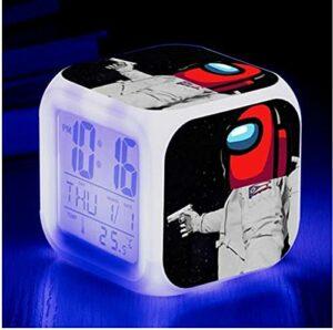 Mitrilifi Petite Horloge LED réveil Clignotant coloré réveil Maison Lampe de Table Lumineuse pour Enfants Enfants Cadeaux décoration de la Maison Ornements LightYellow