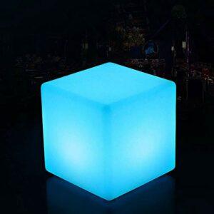 QAZX Enfants Changement de couleur Veilleuse Salon moderne d'éclairage LED Mobilier Ménage Cubic Tabouret Siège bureau Lampadaire réglable (16 couleurs RVB 4 modes) Niveau de protection IP65