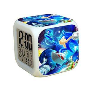 Réveil sonique Réveil pour Enfants Sonic 2 Le hérisson horloges numériques LED réveil queues Miles digitaleecoration Enfants Cadeaux