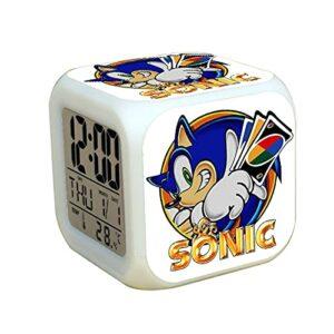 Réveil sonique Sonic 2 The Hedgehog Series Cadeaux Alarme à la Main élégante pour Les garçons LED Kids Birthday Giftlot