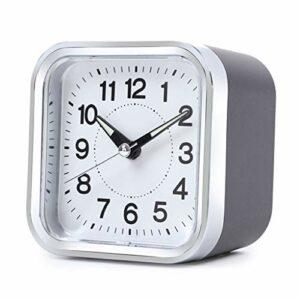 RUCC Carré Réveil muet Chevet Chambre Snooze Simple Veilleuse 9.6 * 6 * 9.4cm