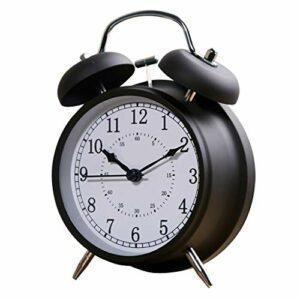 RUCC Réveil étudiant à Sept Couleurs avec lit de Chevet Silencieux, Lampe Lumineuse Simple, métamorphose, Chambre Super bruyante 115 * 50 * 160m (Color : Black)