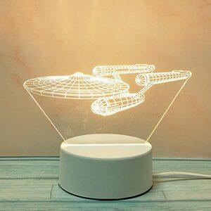 Tatapai Veilleuse 3D créative stéréo, lampe de table d'amour, prise de dessin animé, trois couleurs