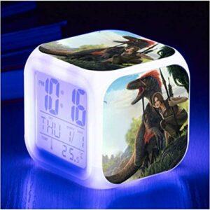 Vbnmda Dessin animé Réveil Glacier Collier Glacier Illuminé Digital Digital Horloge Coloré LED Petit réveil Réveil Horloge pour Enfants Best Anniversaire Enfants (8 * 8 * 8cm 11-29