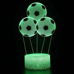 Veilleuse 3D à LED en forme de ballon de football, contrôle à distance, illusion de couleur changeante, le meilleur cadeau créatif pour les enfants