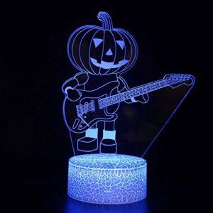 Veilleuse 3D en forme de citrouille – LED magique – Télécommande – Illusion changeante de couleur – Cadeau créatif pour enfants
