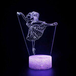 Veilleuse LED magique 3D pour fille – Télécommande – Illusion changeante de couleur – Cadeau créatif pour enfants
