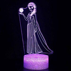 Veilleuse LED magique 3D – Télécommande – Illusion changeante de couleur – Cadeau créatif pour enfants