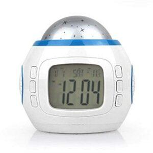 YGXR Accueil horloges de Chevet réveil réveil lumière Lampe de Chevet Dispositif de Protection des Yeux Son Naturel et Fonction de Commande Tactile réveils