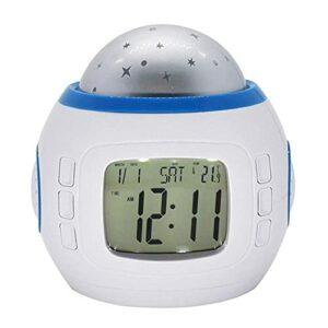 YGXR Horloges de Chevet à la Maison LED réveil numérique étoile étoilée réveil Lumineux Calendrier veilleuse projecteur Maison déco réveils