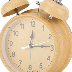 YuKeShop Réveil à double cloche, silencieux, économie d'énergie, avec veilleuse pour le réveil à la maison