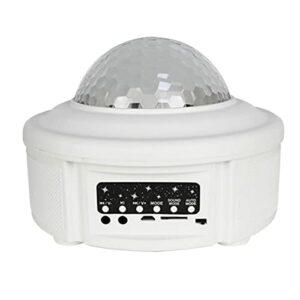 ZJQ-Star Projecteur Night Light avec Télécommande – Musique Haut-Parleur, Prise en Charge Carte Mémoire TF, Adaptée Au Plafond Fête Décoration (19 * 19 * 14Cm)