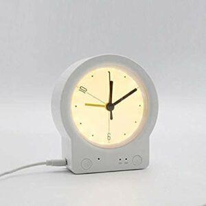 ZLBYB Réveil de Bureau Silencieux avec Lampe de Bureau pour la Maison réveil réveil veilleuse Chambre Dormir avec Temps Chambre d'enfants Mignon Lampe de Bureau (Color : Style 1)