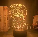 3D Illusion Lampe Led Veilleuse Anime Mon Héros Académique Shoto Todoroki Conception De Visage Pour Enfants Enfant Garçons Chambre Décor Acrylique Lampe De Table Cadeau