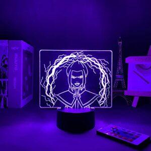 Anime Lampe LED 3D acrylique Veilleuse Avatar The Last Airbender pour chambre d'enfant Décoration Veilleuse Avatar Bleu Cadeau Style 2