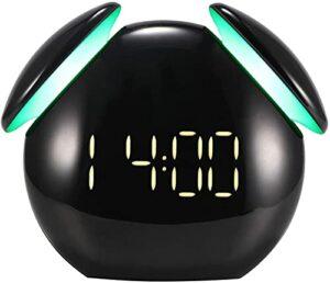 ASDF Réveil numérique, réveil réveil pour Enfants, Mode Snooze Capteur Intelligent Lampe colorée Réveil Port de Chargement USB pour Chevet, Chambre à Coucher