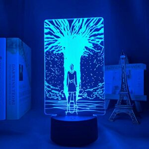 Attaque de lampe d'anime 3D sur la lumière de chemin de Titan pour l'attaque de cadeau d'enfants de décor de chambre à coucher sur la veilleuse LED de Titan