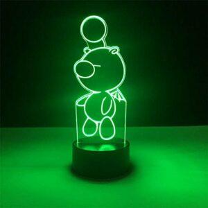 Lampara Veilleuse 3D à changement de couleur 3D – Décoration d'intérieur – Cadeau d'anniversaire pour enfants