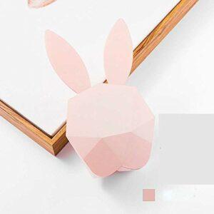 Lampe de Table Dessin animé Lapin Musique réveil USB Commande vocale Rechargeable LED veilleuse étudiant Chevet Lampe de réveil (Couleur:Vert) (Color : Pink)