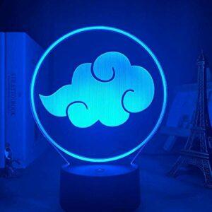 Lampe Illusion 3D LED veilleuse Anime Naruto Akatsuki Logo lampe de Table pour enfants pépinière décor Manga cadeau pour lui acrylique enfants sommeil lampe le cadeau