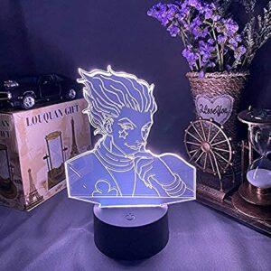 LHYXH Hisoka x Hisoka Silhouette 3D Illusion Lampe Chasseur x Chasseur Figure LED veilleuse pour Enfants Chambre décoration Enfants Cadeau de noël(No Remote,No Remote)