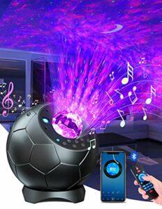 Lupantte Planetarium Projecteur,Lumiere Galaxie Plafond Rotation à 360°,30 Couleur Lumière Galaxy Nova Projecteur Lecteur de 3D-orateur,Minuterie,Galaxie Projector pour la Décoration/Cadeau/Veilleuse