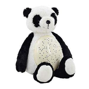 Panda Douce Et Moelleuse,Projecteur pour L'Éveil De Votre Enfant Peluche Interactive Veilleuse Doudou Dynamique Etoiles