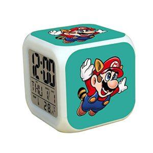 Réveil Super Mary Super Mario Brotherss – Cadeau – Pile – Réveil numérique – Pour chambre à coucher