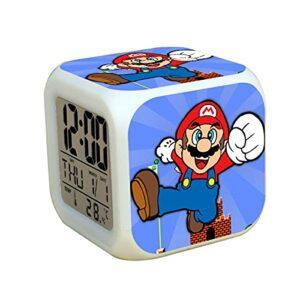 Réveil Super Mary Super Mario luigi réveil numérique température Date veilleuse