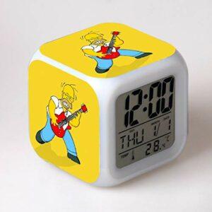 TYWFIOAV Mignon Cartoon Alarm Clock Enfants Toy Despertador LED Réveil Numérique Réveil Réveil Réveil Lumière Table Reveil Wekker