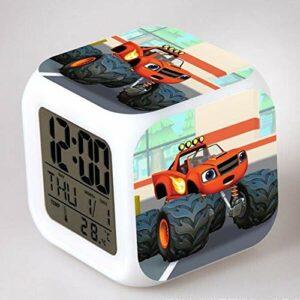 TYWFIOAV Réveil LED en forme de flamme, dessin animé, réveil numérique, jouet pour enfant, réveil, réveil, table de desertador