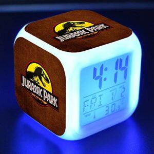 TYWFIOAV Réveil numérique tête d'aigle LED 7 couleurs veilleuse capteur tactile réveil pour chambre d'enfant multifonction