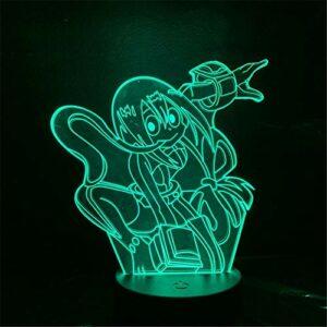 Veilleuse 3D à LED My Hero Academia Asui Tsuyu Anime Figure 3D Novelty Lampe de table décorative pour enfants