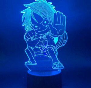 Veilleuse 3D pour Enfants, Veilleuse Illusion 3D illusion light Chambre Table Art Déco Enfant Lumière de Nuit Avec chargement USB, changement de couleur coloré