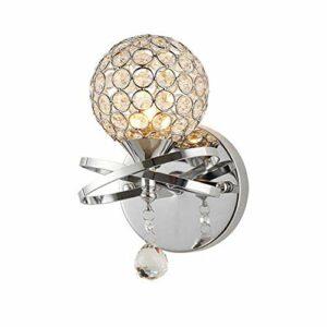 XHSHLID Applique en Cristal Veilleuse au Chevet de la Chambre à Coucher Lampe Lampe Tête Décoration Star Ball Atmosphère Éclairage à économie d'énergie