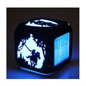 XY-M La Légende De Zelda Creative 3D Stéréo Stéréo Petit Réveil LED Nuit Lumière Lumineuse Horloge De Chevet Chambre De Chevet Chambre À La Chambre Étudiante-USB Charge