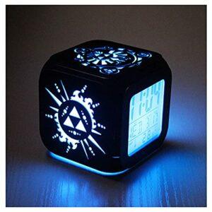 XY-M Paradis Zelda Mode Créatif 3D Stéréo Stéréo Petit Réveil Horloge Électronique Horloge Houles Horloge Chambre Étudiante LED Lumière De Nuit -USB Chargement