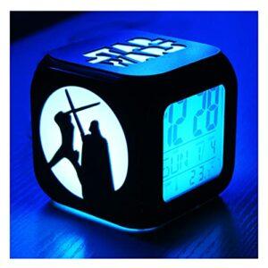 XY-M Star Wars Fashion Creative 3D Stereo Stereo Small Réveil Mute LED Night Light Horloge Électronique Horloge Chambre Chambre Horloge-USB Charge